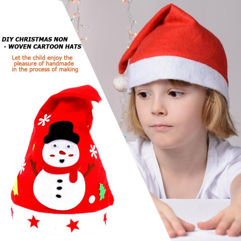 Winter Warm Santa Hat Simple Handling Good Material Flexibility Soft Plush Children Christmas Snowman Tree Decoration Cap