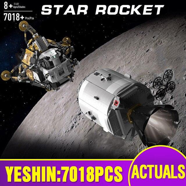 Star Giocattoli Wars Compatibile Con MOC 26457 Apollo Spacecraft Costruzione di Blocchi di Mattoni Giocattoli di Montaggio Modello Kit Per Bambini Regali Di Natale