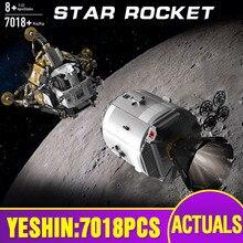 ของเล่นStar Warsใช้งานร่วมกับMOC 26457 Apollo Spacecraft Building Blocksอิฐประกอบของเล่นชุดเด็กคริสต์มาสของขวัญ