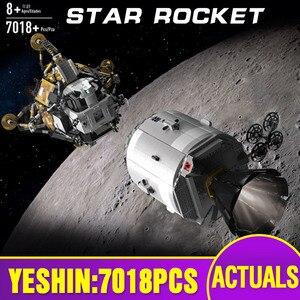 Image 1 - ของเล่นStar Warsใช้งานร่วมกับMOC 26457 Apollo Spacecraft Building Blocksอิฐประกอบของเล่นชุดเด็กคริสต์มาสของขวัญ