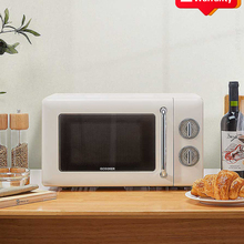 Pizza-Oven Microwave QCOOKER Grill Built-In Retro 20L Ce Turntable Electric-Appliances
