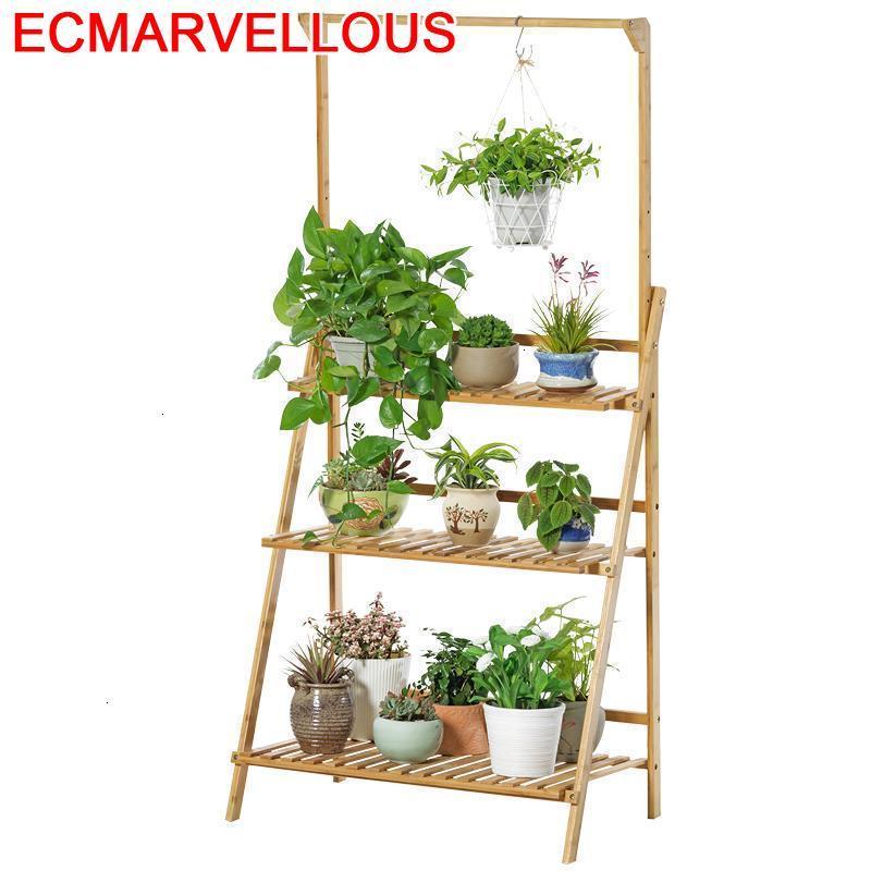 Plantenstandaard Repisa Para Plantas Indoor Ladder Shelf Varanda Rack Stojak Na Kwiaty Outdoor Flower Dekoration Plant Stand