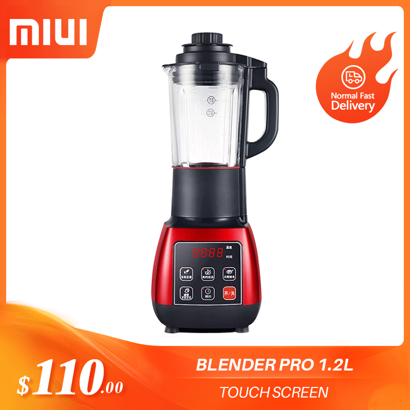 Ev Aletleri'ten Gıda Karıştırıcılar'de MIUI mutfak elektrikli yiyecek mikseri akıllı rezervasyon dokunmatik ekran BPA ücretsiz malzeme sıkacağı Smoothies buz kırıcı PRO 1.2L title=