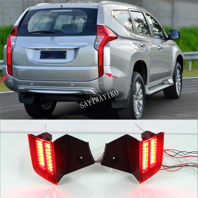 1Pair Car LED Reflector Lamp Rear Fog Lamp Rear Bumper Light Brake Light For Mitsubishi Pajero Sport 2015 2016 2017 2018
