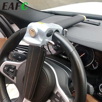 Car Steering Wheel Lock Foldable Auto Steering Lock Anti Theft Protection T-Locks Security Car Locks for Car Accessories