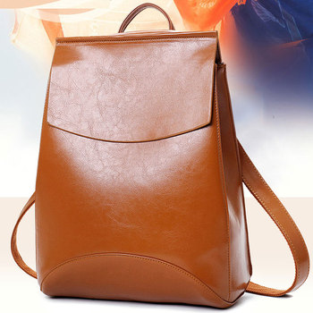 New Leather Women's Backpack Students Trendy Personality Leisure Shoulder Bag Multi Function Travel  Retro Creative Women's Bag недорого