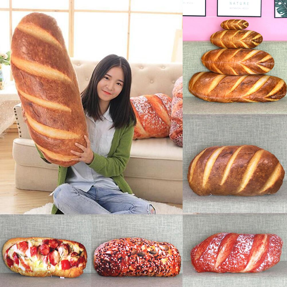 3D Plush Pillow Cushion Gift Soft Stuffed Backrest Toys Birthday Funny Simulated Snack Bread Shape For Children Home Decor Girl