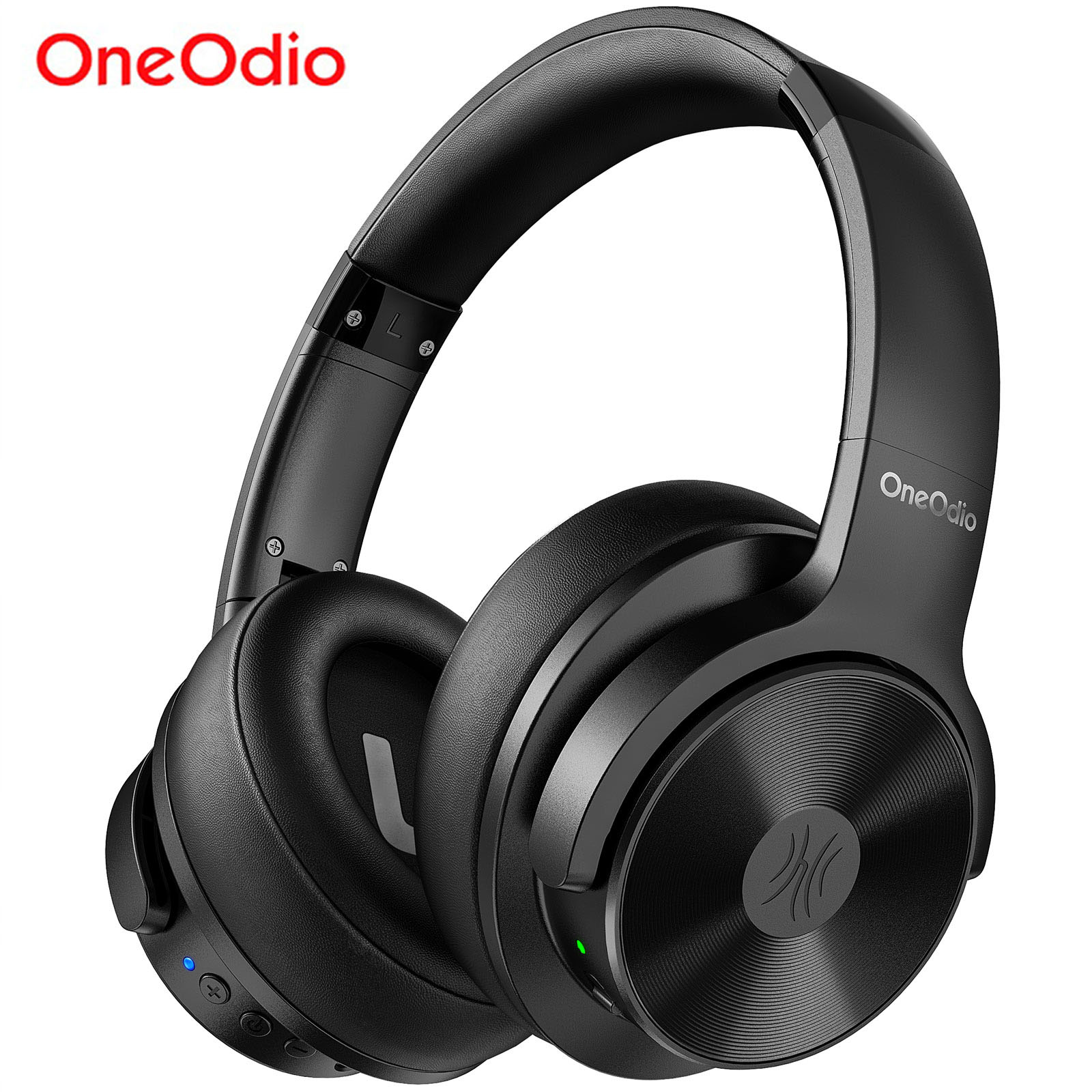 Oneodio A30 Active Noise Cancelling Headphones Wireless Over Ear Bluetooth 5.0 Headset With Deep Bass CVC 8.0 Clear Mic Travel