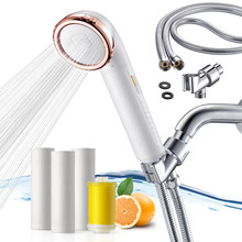 Vitamin C Shower Filter head with Hose – Filtered Shower Head – Chlorine Shower Filter L751-W– Softens Hard water