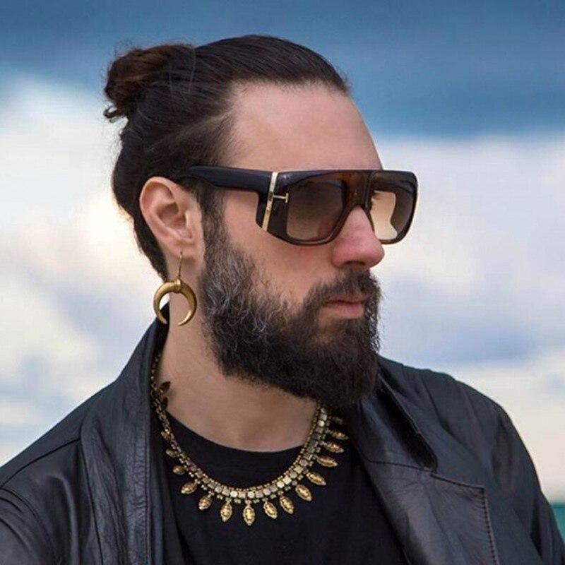 Square Sunglasses T Men Brand Designer Fashion Large Windproof Sunglasses Goggles Retro Punk Sun Glasses Shades For Women