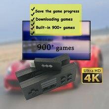 Mini Console de jeux vidéo portable, HDMI 900, 4K, USB, contrôleur sans fil, Joystick, double lecteur, cadeau