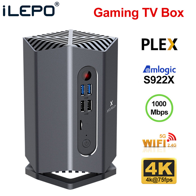 Gaming TV Box Android 9.0 A95X MAX Plus Amlogic S922X Support USB3.0 1080P H.265 4K 75fps Google Player Store Plex Media Server
