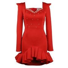 Цвет красный подарок к Рождеству вечерние платье для женщин