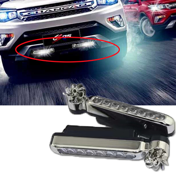 2pcs Car Front Grilles Trim License Plate Led For Suzuki Swift Bmw F10 X5 E70 E30 F20 E34 G30 E92 E91 M Volvo XC90 S60 V40 S80 image