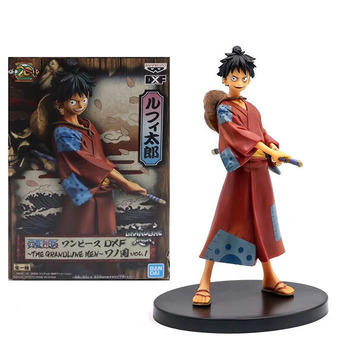 18 CM One Piece The Grandline Men Luffy Land of Wano Country Ver. Action Figure PVC Collection Model Toys anime one piece figure one of the four kings shanks pvc action figure collection model toy