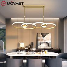 Minimalism Led Pendant Light Hang Aluminum  Lamp Remote Lighting For Kitchen Living Room dining  Lighting Fixture modern led pendant lights living room restaurant hang lamp aluminum remote control dimming hanging lighting fixture kitchen lamp
