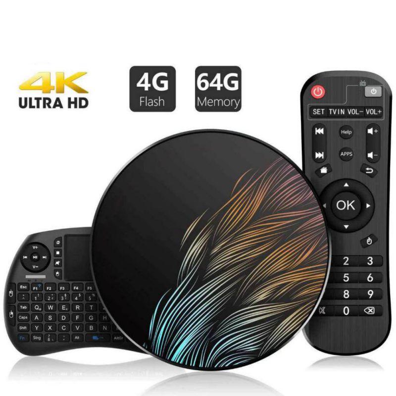 Décodeur boîtier TV rond Cool boîtier TV intelligent 16GB 32GB 64GB décodeur lecteur multimédia réseau Android boîtier TV