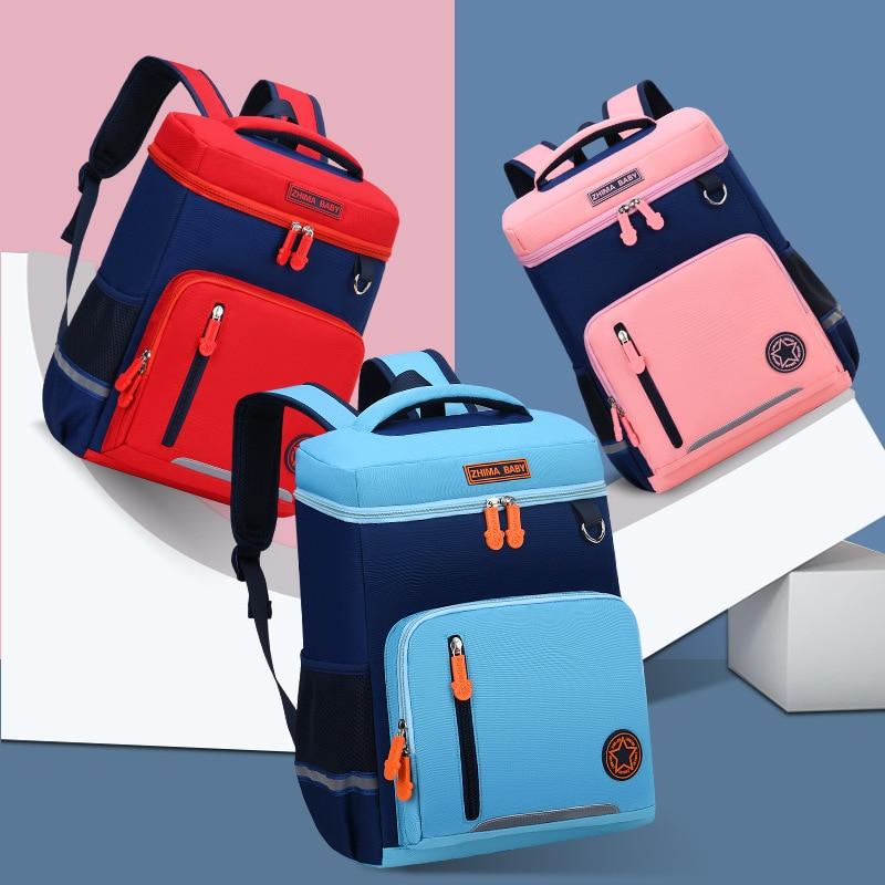 Korea Style Solid Color School Bags For Teenagers Girls Primary School Backpacks Kindergarten Kids Children Boys Mochila Escolar