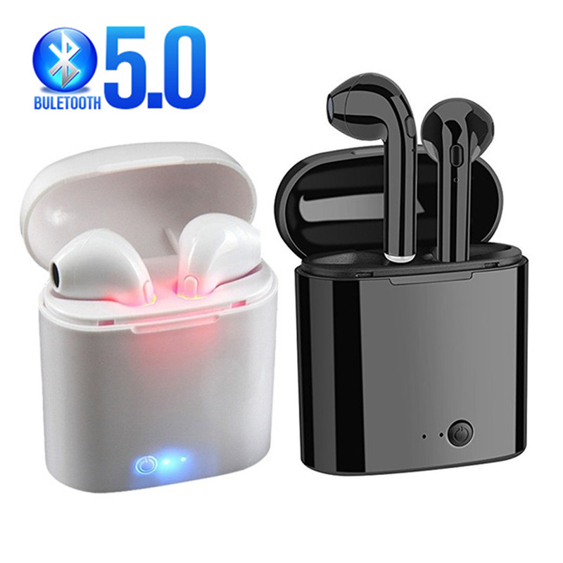 I7s TWS Wireless Headset Bluetooth 5.0 Headset Sports Earplug Stereo Headset with Microphone Charging Case Wired Nonem