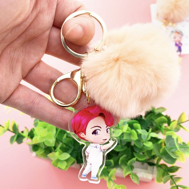 Kawaii Plush Ball keychain  4
