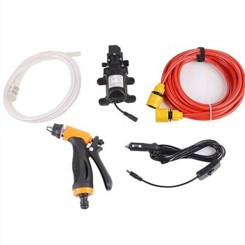12V 65W Portable High Pressure Portable Car Wash Water Pump Sprayer Kit Car Washing Water Pump Cleaner Sprayer Kit image