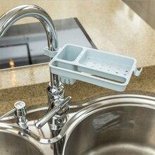 1pc Bathroom Kitchen Faucet Clip Storage Rack Tap Hanging Holder Sponge Soap Drain Dishcloth Organizer