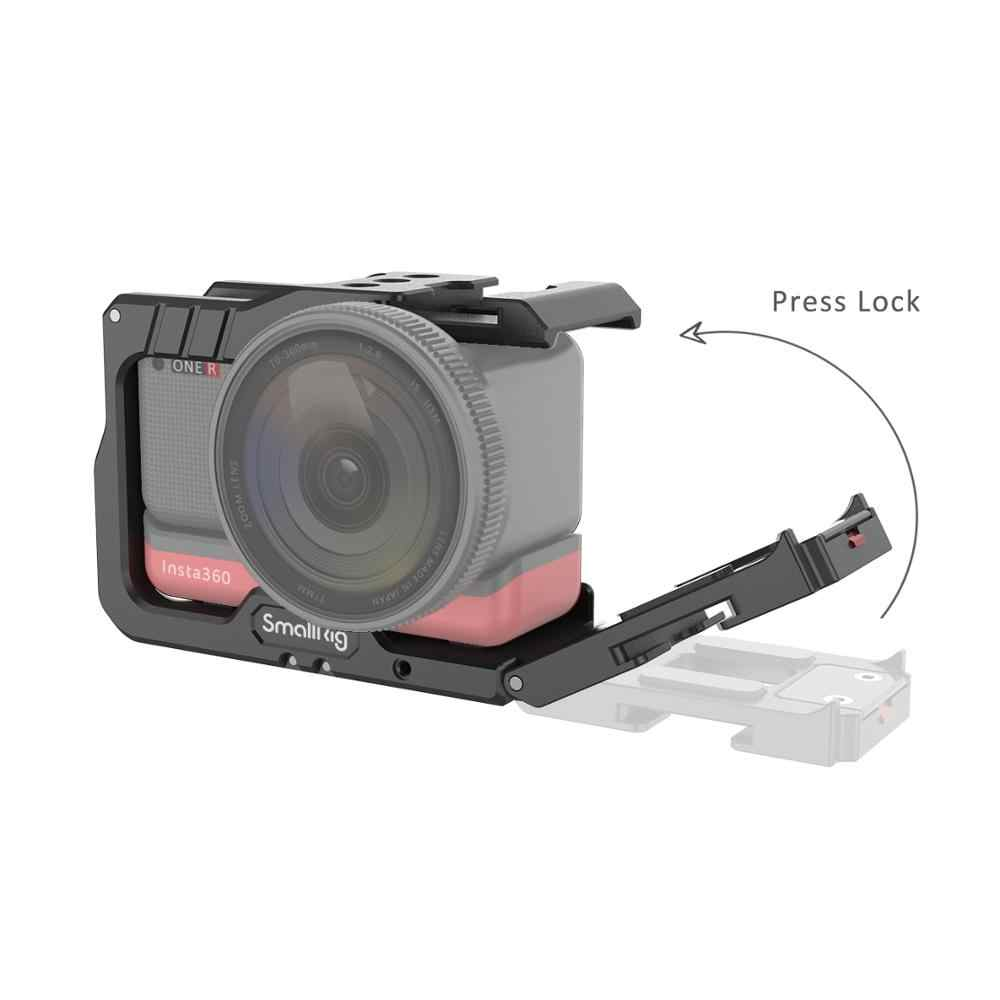 SmallRig Vlog alüminyum kafes için Insta360 bir R Vlog kafes katlanır GoPro-tipi montaj parmak 2798