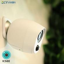 CTVMAN 1080P ICSEE بطارية خارجية واي فاي كاميرا IP بطارية الأمن كاميرا بطارية لاسلكية كاميرا مراقبة 2MP مقاوم للماء