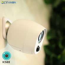CTVMAN 1080P ICSEE Outdoor Battery Wifi Camera IP Battery Security Camera Wireless Battery Camera Surveillance 2MP Waterproof