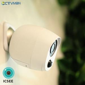 Image 1 - CTVMAN 1080P ICSEE Outdoor Battery Wifi Camera IP Battery Security Camera Wireless Battery Camera Surveillance 2MP Waterproof