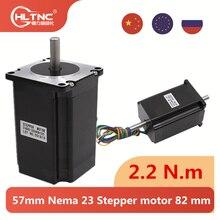Es pl ru 57mm nema 23 motor deslizante 82 mm comprimento do corpo 2.2 n. m torque de china baixo preço 315oz-in nema23 para roteador cnc