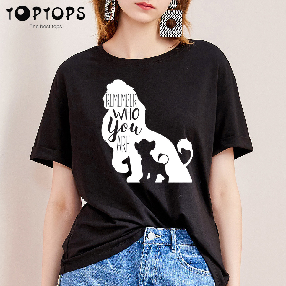 Women The Lion King Funny Cotton T Shirt Unisex Skateboard Christmas Tshirt Female Girl Clothes Streewear Shirt