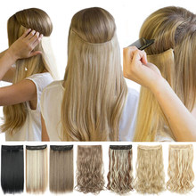 Extensões de cabelo de halo nenhum grampo na linha de peixe falso hairpiece cabelo sintético colorido natural loiro marrom preto franja falso cabelo
