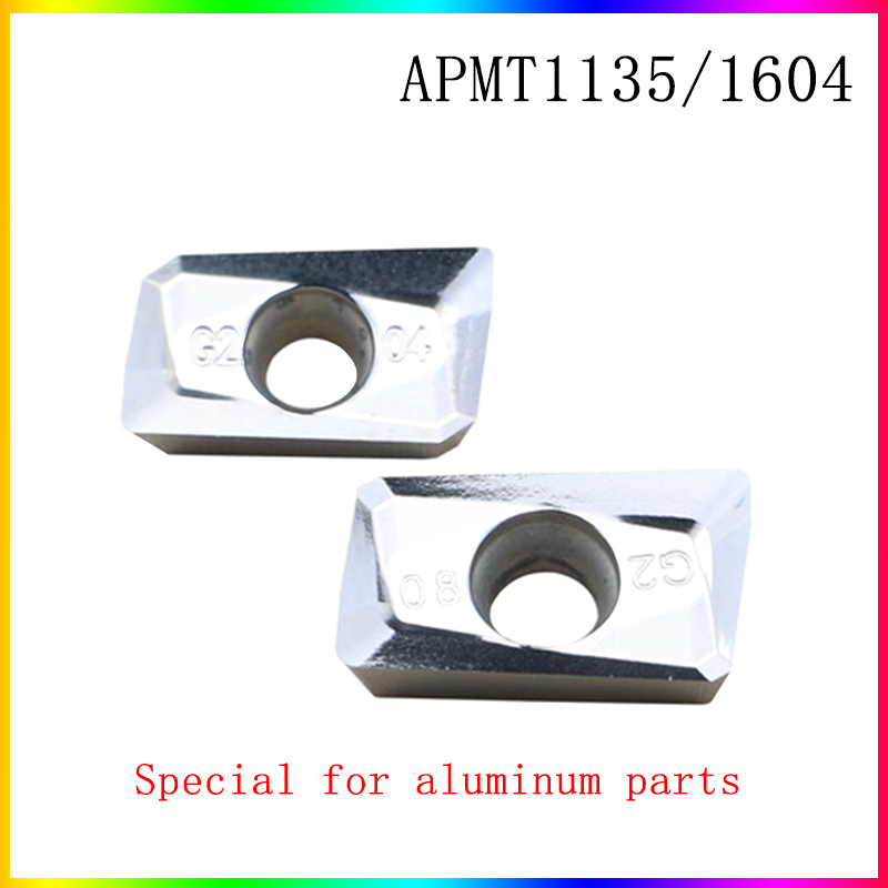 APMT1135 APMT1604 Carbide Blade APMT1135PDER APMT1604PDER Blade For Turning Aluminum Parts, Used For BAP300R Grinding Clip