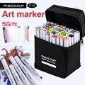 Finecolour маркер для спиртового искусства  цветная ручка для художника  двухголовый маркер для эскиза 36 48 60 72 набор EF100 маркеры для рисования