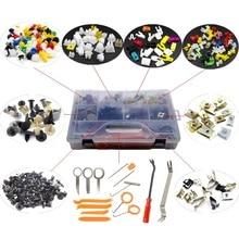 Mixed Car Body Push Retainer Pin Rivet Bumper Door Lock Rod U Type Dashboard Gasket Metal Clip Fastener Kit