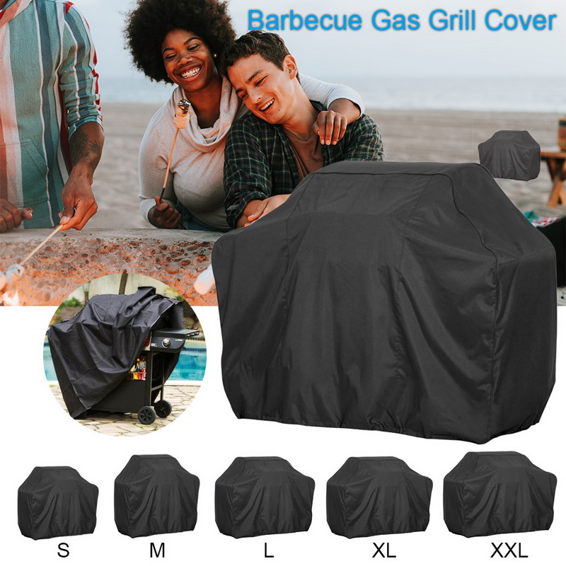 Bache Barbecue Black Waterproof BBQ Cover Outdoor Rain Grill Barbacoa Anti Dust Protector For Gas Charcoal Electric Barbe