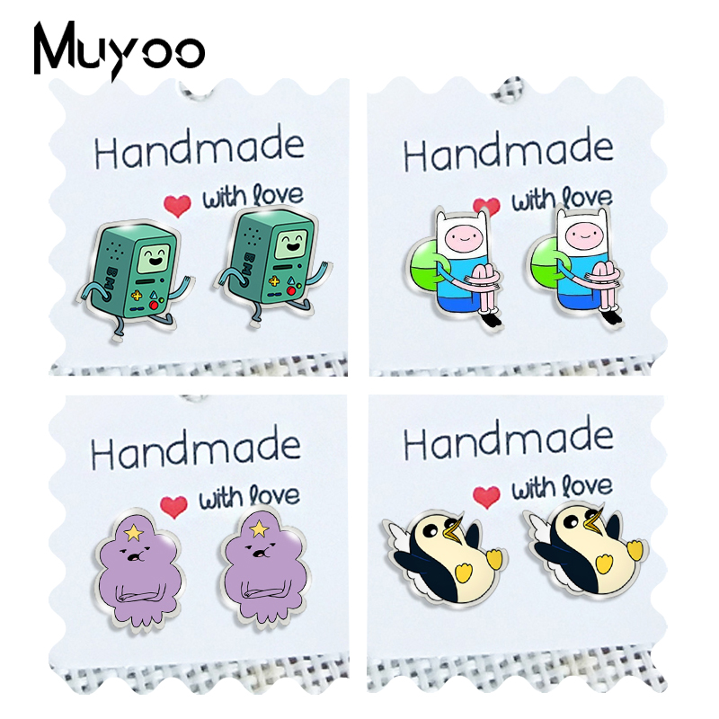 2020 New Adventure Time Stud Earring Princess Acrylic Earrings Epoxy Handamde Jewelry Gifts Children