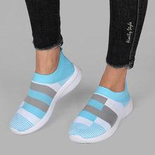 Respirável malha deslizamento-em 2021 sapatos femininos tênis plataforma primavera leve apartamentos femininos de alta qualidade tênis mulher sapatos