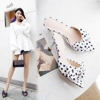 Fashion Women Sandals Women 6.5cm High Heels Sandals White/Black Summer Female Shoes Casual Lady Shoes Woman Footwear