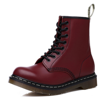 Casual Men Boots Martens Man Leather Shoes Ankle Boots Doc Cowboy Waterproof Motorcycle Casual Coturno Botas Hombre Couple Shoes