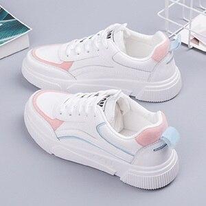 Image 4 - SWYIVY öğrenci ayakkabı kız beyaz Sneakers tıknaz platformu 2020 bahar yeni kadın rahat ayakkabılar Sneakers beyaz Sneaker kadın