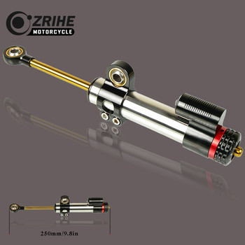 ZRIHE Motorcycle Universal Adjustable Accessories CNC Adjustable Steering Stabilize Damper FOR KAWASAKI ZX9 ZX9R ZXR400 ZZR1400