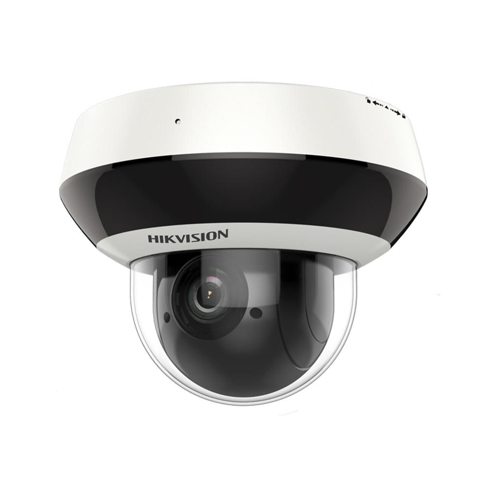 Hik – caméra de Surveillance dôme PTZ IP POE, H.265 DS-2DE2A404IW-DE3, 4mp, avec Zoom x4, micro, alimentée par DarkFighter 2