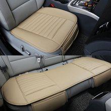 Housses de siège pour voiture universel en cuir PU avant accessoires protecteur quatre saisons couvertures arrière avant Auto double usage coussin