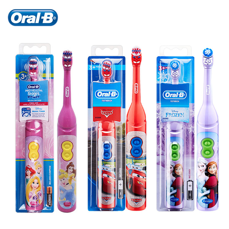 Oral B Electric Toothbrush for Children Magic Timer Gentle Oral Clean Rotary Vibration Soft Bristle Battery Powered Tooth Brush image