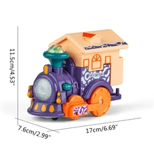 Early Education Touch-sensing Voice-activated Train Toy, Fire Engine Truck with Dynamic Music for Kids and Children