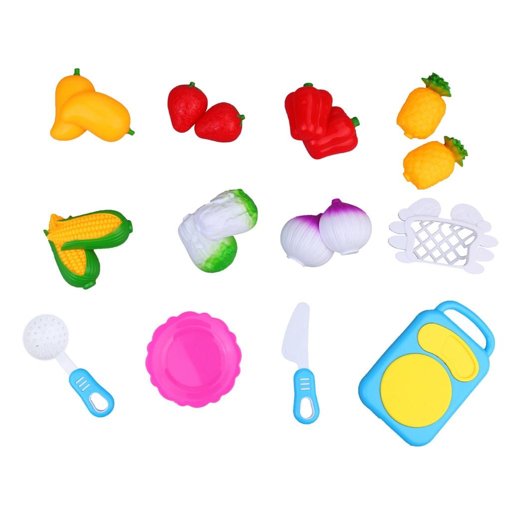 Cutting Fruit Vegetable Pretend Play 12Pcs Children Kid Educational Toy