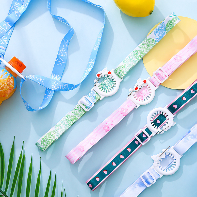 R0012 Japanese Korean Beverage Bottle Lanyard Mineral Water Suspender Strap Japanese-style GIRL'S Sesame Street Glass With Porta