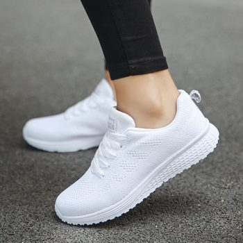 Summer Mesh Sports Shoes Lady Running Shoes Women's Sneakers Women's Athletic Shoes Sport White Scarpe Donna